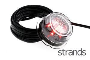 STRANDS - VIKING LED LAMPES LATÉRALES - ROUGE *VERRE TRANSPARENT*