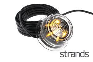 STRANDS - VIKING LED LAMPES LATÉRALES - ORANGE *VERRE TRANSPARENT*
