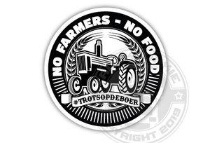 NO FARMERS NO FOOD - #TROTSOPDEBOER - FULL PRINT STICKER