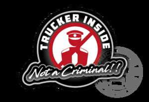 TRUCKER INSIDE - FULL PRINT STICKER