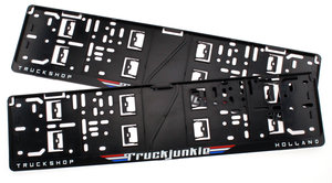 TRUCKJUNKIE TRUCKSHOP HOLLAND - FLAGS - SUPPORT DE PLAQUE DIMMATRICULATION