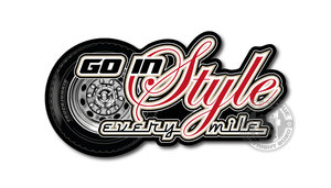 GO IN STYLE - EVERY MILE - FULL PRINT AUTOCOLLANT