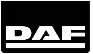MUDFLAP FRONT BUMPER BLACK - WHITE  PRINT DAF