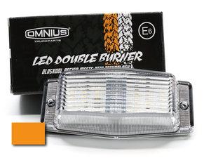 VERRE CLAIR/ORANGE - LED MARQUEUR DOUBLE - OMNIUS