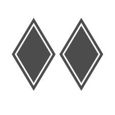AUTOCOLLANT COUVERCLE DE COIN - FORME DE DIAMANT
