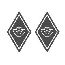 AUTOCOLLANT DE COIN SHIELD - V8