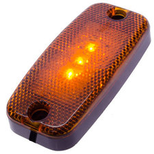 LAMPE LATÉRALE 3 LED - ORANGE 9 ~ 36V