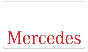 MUDFLAP FRONT BUMPER WHITE - RED PRINT MERCEDES