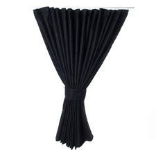 SIDE CURTAINS 90cm - DOUBLE FABRIC - BLACK