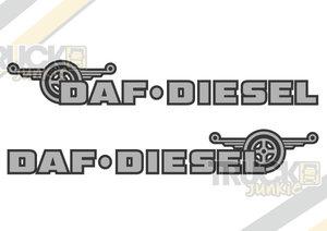 DAF DIESEL - DEUX TONS AUTOCOLLANT