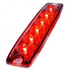 ULTRA THIN FLASH - 6 LED - ROUGE