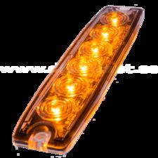 ULTRA THIN FLASH - 6 LED - ORANGE