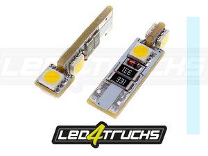 XENON WEISS - 4xSMD LED 24V - W3W / W5W