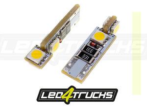 BLANC CHAUD - 4xSMD LED 24V - W3W / W5W