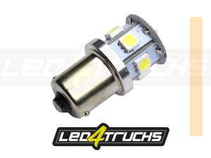 BLANC CHAUD -  9xSMD LED 10-30V - BA15s