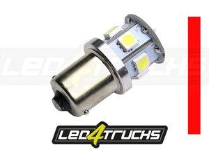 ROUGE - 9xSMD LED 10-30V - BA15s