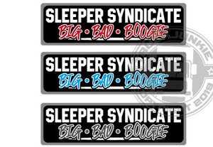 SLEEPER SYNDICATE BBB - FULL PRINT STICKER