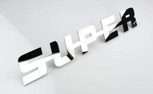 SUPER EMBLEME - ACIER INOXYDABLE POLI