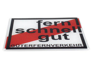 FERN SCHNELL GUT - 3D DELUXE FULL PRINT AUTOCOLLANT
