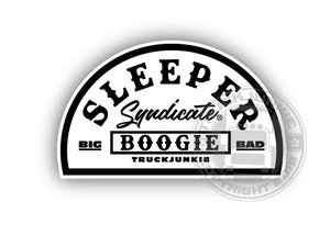SLEEPER SYNDICATE BLACK/WHITE - FULL PRINT AUTOCOLLANT