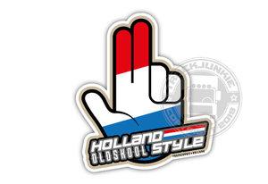 XXL - HOLLAND OLDSKOOL STYE - HOPPA HAND - FULL PRINT AUTOCOLLANT