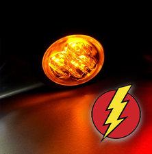 LED FEU FLASH - HIDE AWAY - AXITECH UR03  ECE R65 - ORANGE