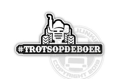 #TROTSOPDEBOER STICKER