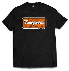 truckjunkie t shirt oranje est 2013 oldskool trucking