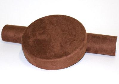 ALCANTARA PLAK FOLIE DONKER BRUIN - CHOCOLADE BRUIN